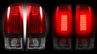 taillights of a car
